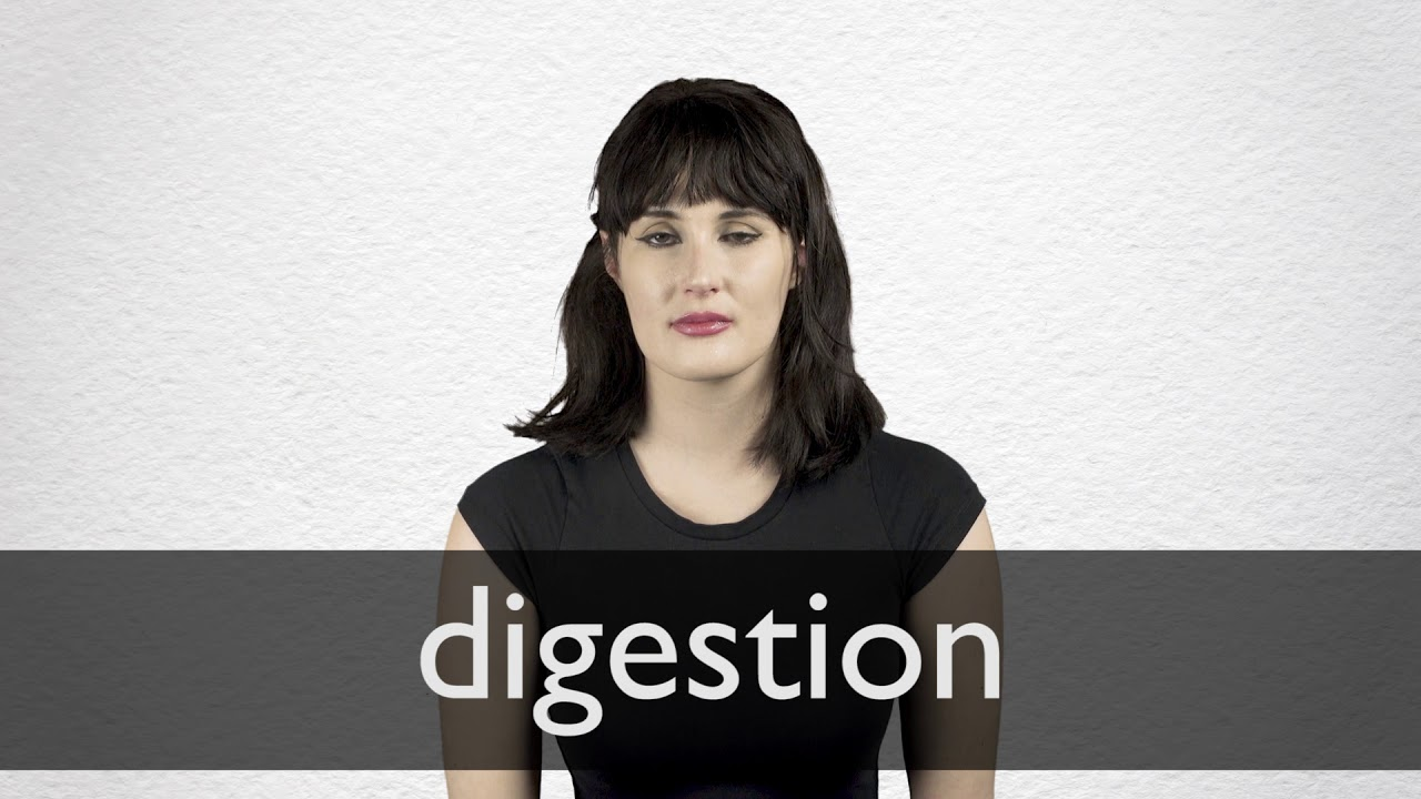 How to pronounce DIGESTION in British English