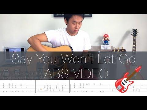 James Arthur Say You Wont Let Go - Fingerstyle Guitar Lesson FREE TABS Tutorial - Rodrigo Yukio
