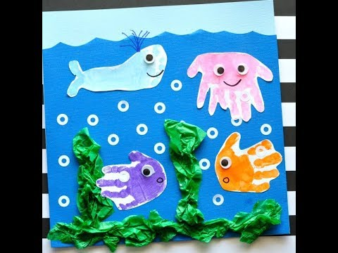 Baby Einstein DIY Hand and Footprint Ocean Art thumbnail