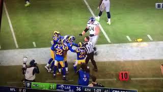 Seahawks vs Rams fight!!!