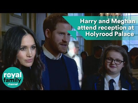 Harry and Meghan attend reception at Palace of Holyroodhouse
