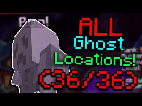 ALL HYPIXEL GHOST LOCATIONS! (36/36) - Hypixel Halloween Event 2018 GUIDE