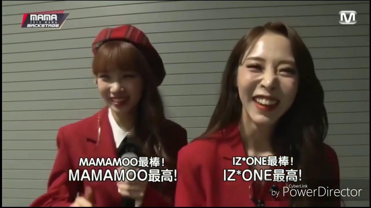 MAMAMOO玟星 & IZ*ONE采源 日本MAMA合作舞臺【中字】 - YouTube