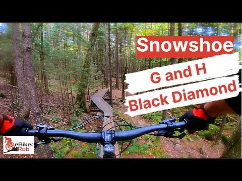 G And H (Black Diamond Trails) @ Snowshoe Bike Park   GoPro 9   EBiker Rob