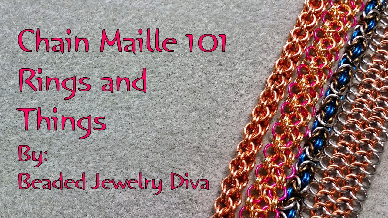 chain maille 101 intro to chain mail jewelry part 1 youtube