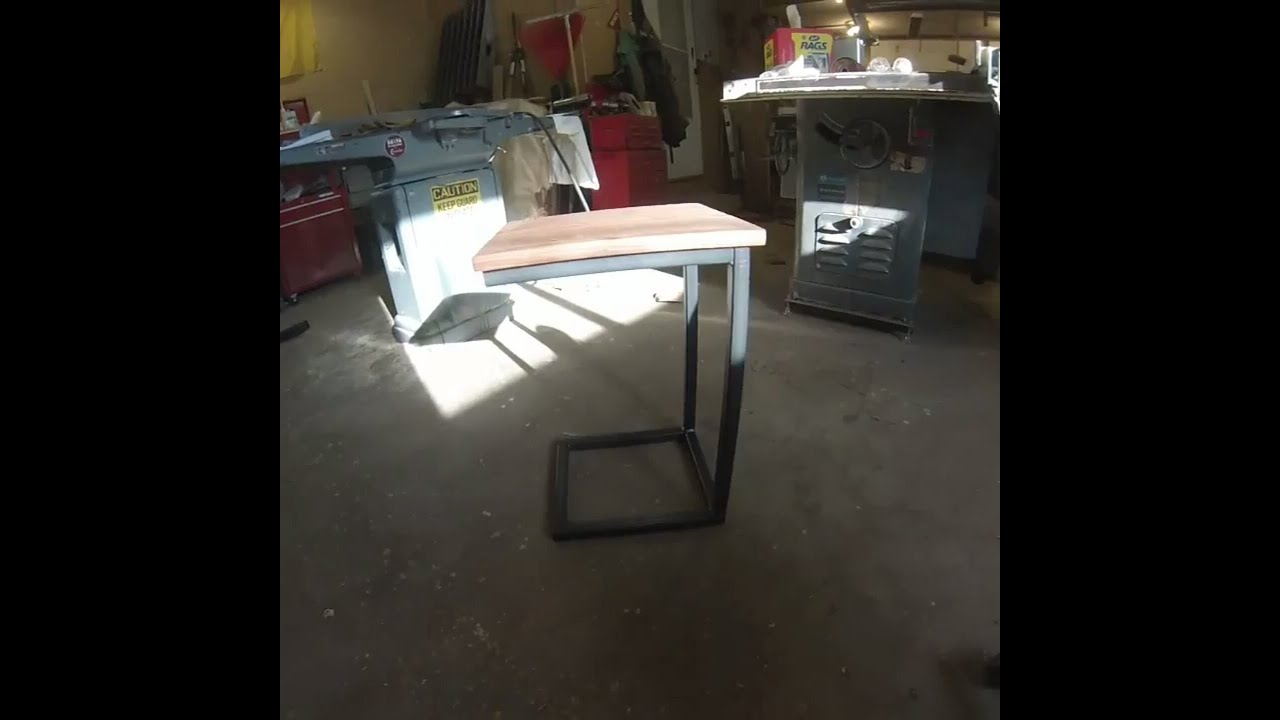 Great Industrial C Table   Custom Furniture MN   Four Fields Furniture