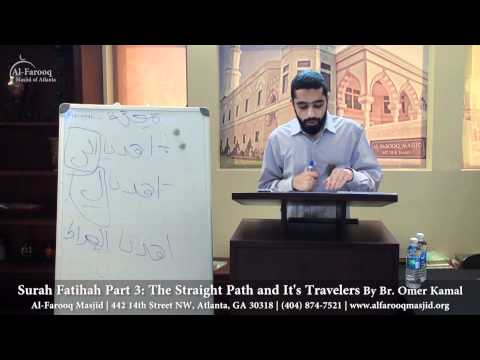 Surah Fatihah Part 3: The Straight Path and It's Travelers