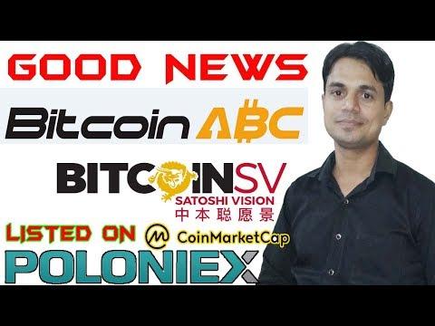 BitcoinCash ABC And BitcoinCash SV Listed On Polonies Exchange For Trading On 9 11 18