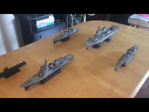 JMSDF (Japanese Navy) Carrier Group in 1.350 scale