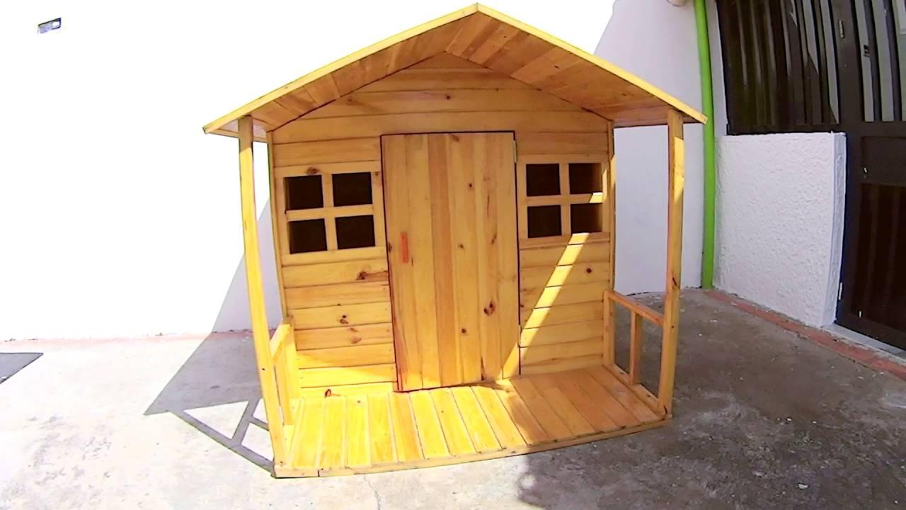 Casita de madera para ni os por maderarte dise os youtube for Casitas de madera