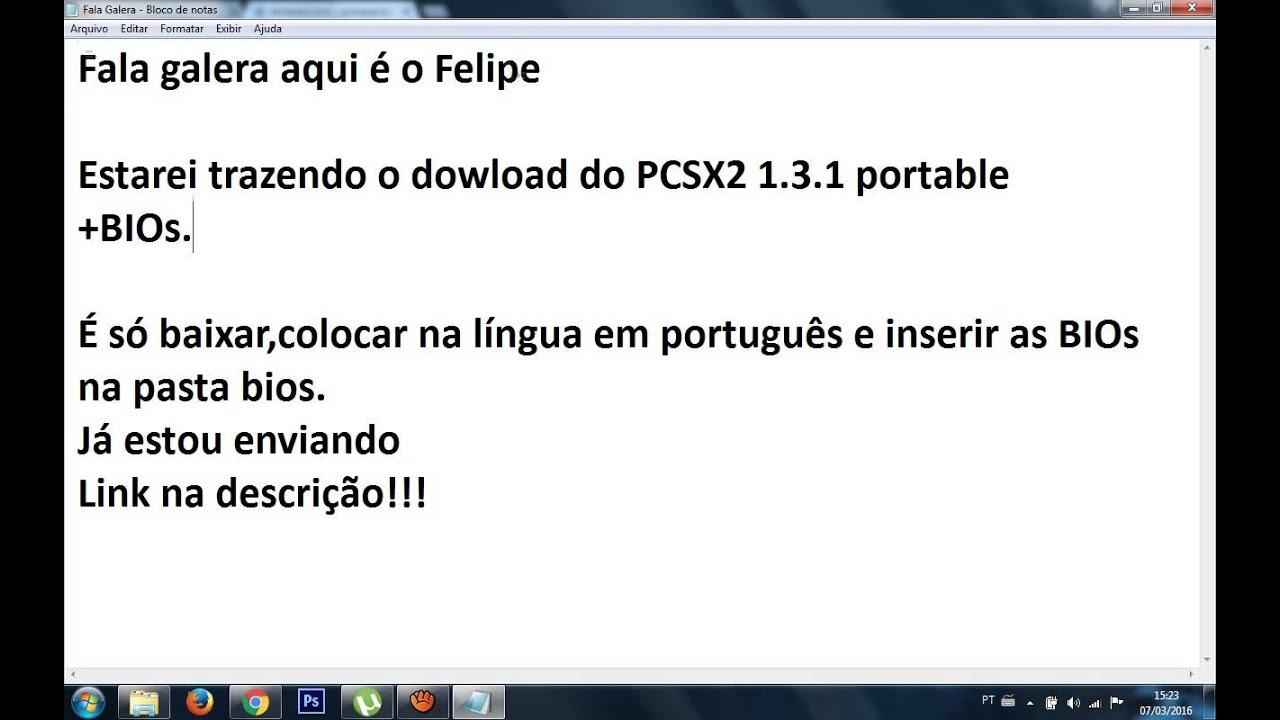 PCSX2 TÉLÉCHARGER 1.4.0 BIOS