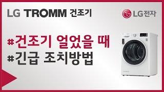 LG TROMM 건조기 - 얼었을 때 해결 방법