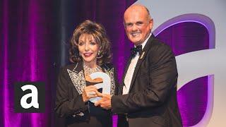Joan Collins, screen matriarch as Dynasty's Alexis Carrington, gets The Icon Award   #AttitudeAwards