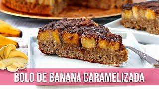 Bolo de Banana Caramelizada sem Farinha com Aveia