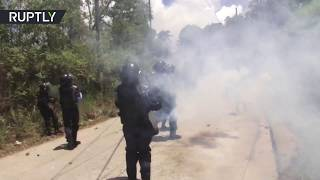 Environmental activists clash with Honduran police over construction project