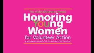 Soroptimist International of Novato: Violet Richardson Awards Application Promo