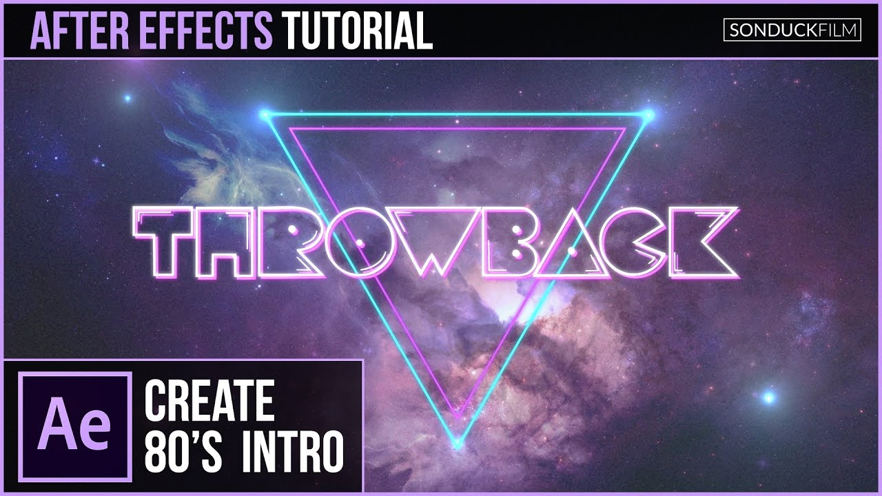After Effects Tutorial: 80's Style Intro Basics | SonduckFilm