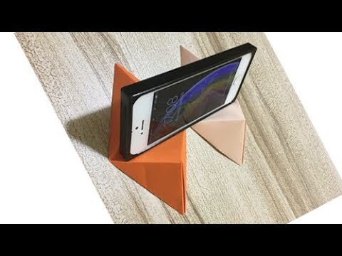 DIY Origami Phone Holder | How To Make Paper Mobile Stand Without Glue