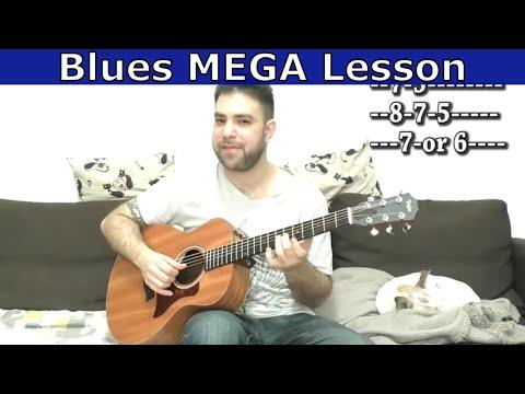 Advanced Blues Mega-Lesson: Solo-Trading Fingerstyle Blues - Guitar Tutorial w/ TAB