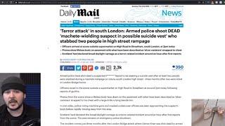 TERROR IN LONDON, Police Take Out Crazed Man In South London, Breaking NOW