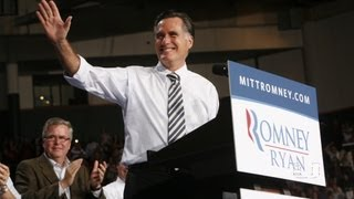 Presidential Candidate Mitt Romney at University of Miami for Election Rally