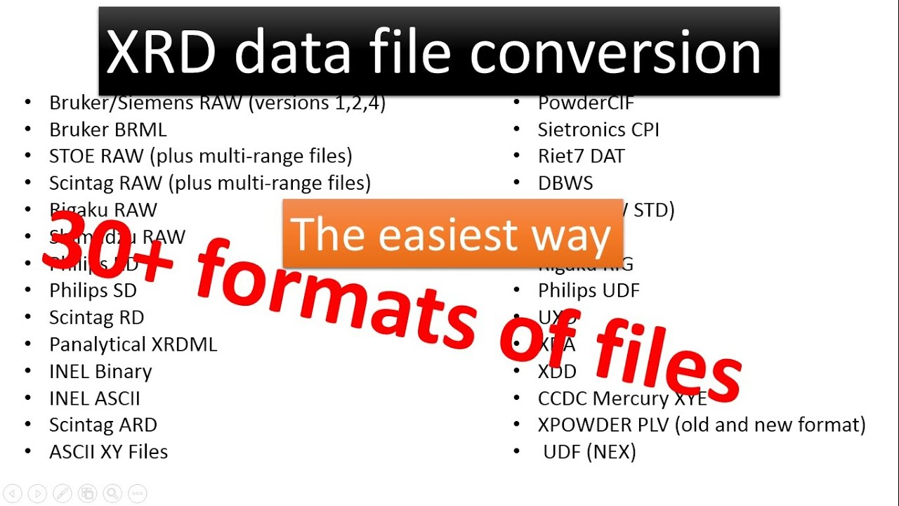 Easiest way to convert X ray diffraction (XRD) data file ...
