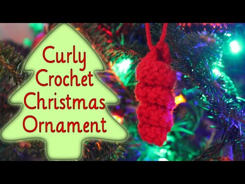 SUPER EASY Crochet Curly Christmas Ornaments