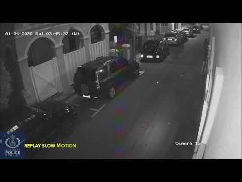 Police Video: Suspect In Firearms Incident On Angle Street, Jan 2020