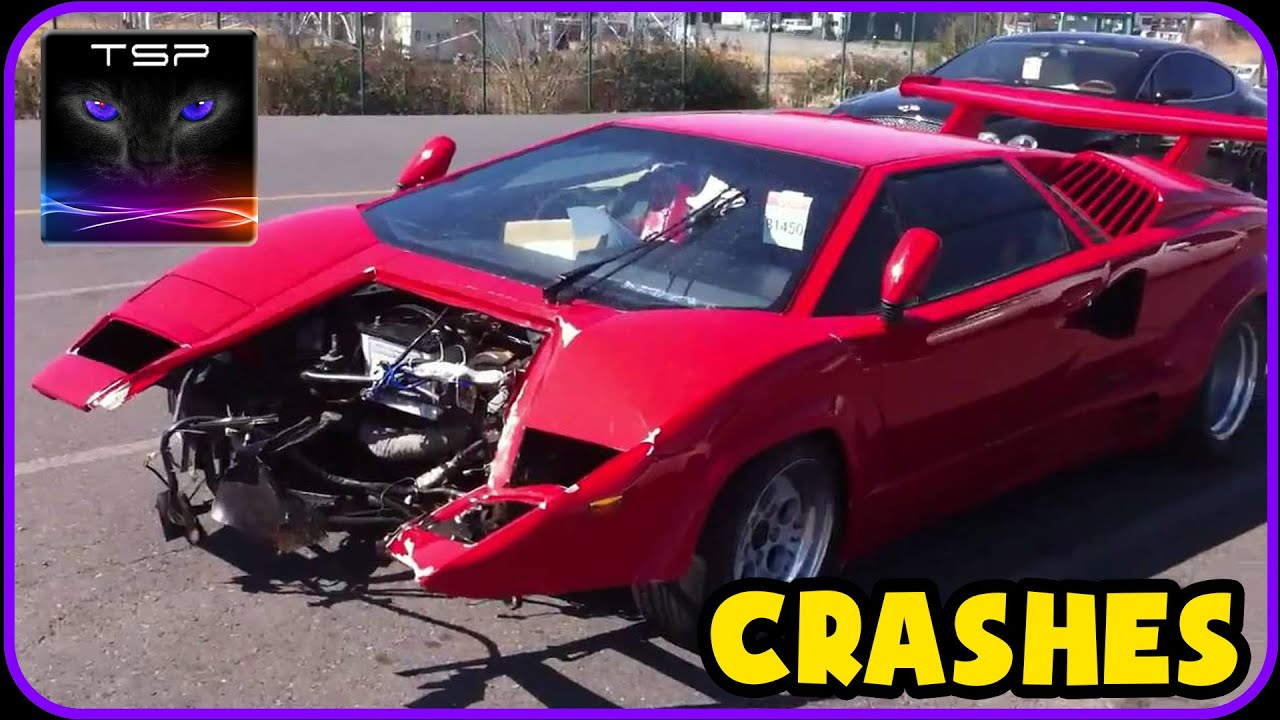 beamng - lamborghini countach crash testing - youtube