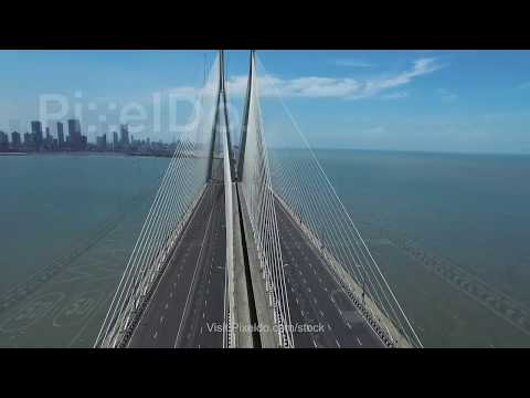Bandra Worli Sea Link Stock Video