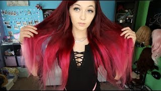 Dyeing my hair Red and Pink for Valentine's Day ❤️