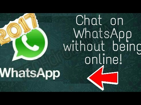 How To Chat On WhatsApp Without Coming Online! 2017 Latest Trick!