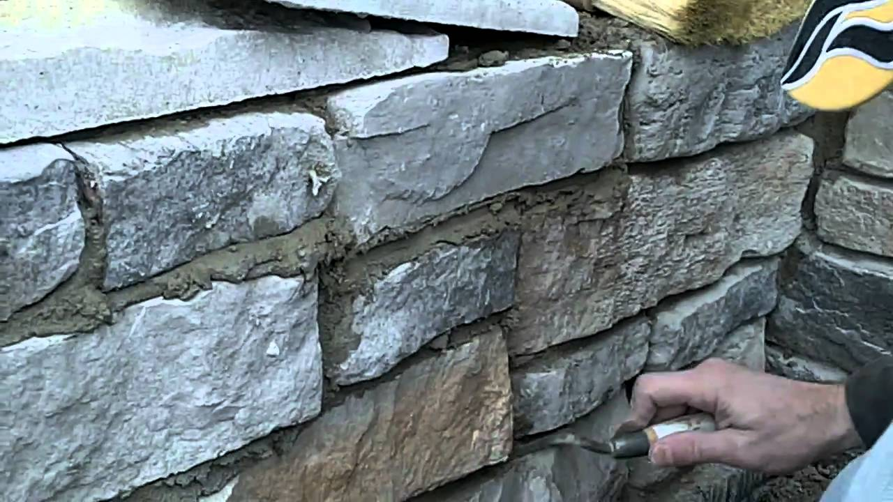 grouting the stone on the home exterior youtube On exterior grout