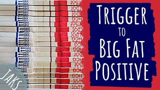 Testing Out HCG Trigger Shot | Positive Pregnancy Test Progression (Hybrid Cycle #1) [CC]