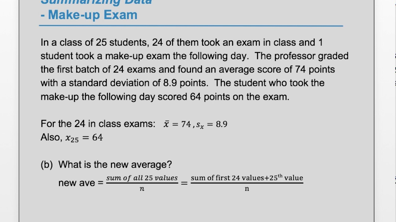 What is an exam 99