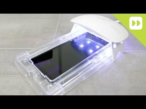 WhiteStone Dome Galaxy Note 8 Glass Screen Protector Install
