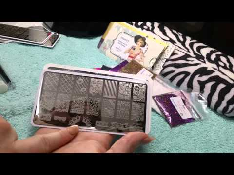 Nail Art Haul, Stamping Plates & Acrylic Brushes