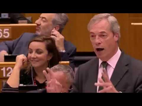Watch EU Parliament Globalists Boo UK National Farage Taunts Trade Tariffs War After BREXIT