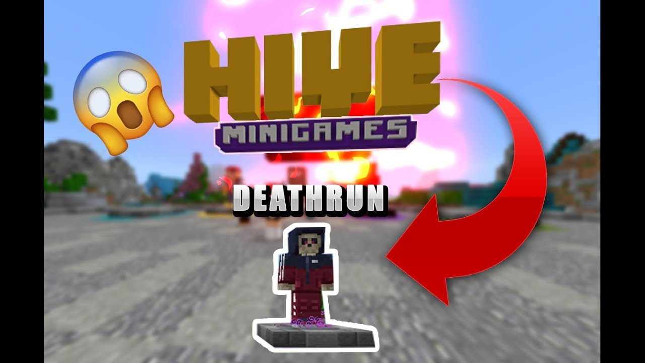 😱Minecraft pe Deathrun server the hive is here YouTube