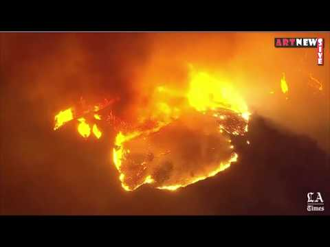 LIVE COVERAGE: Fast-moving Creek fire threatens homes in Ventura, California (California fire)