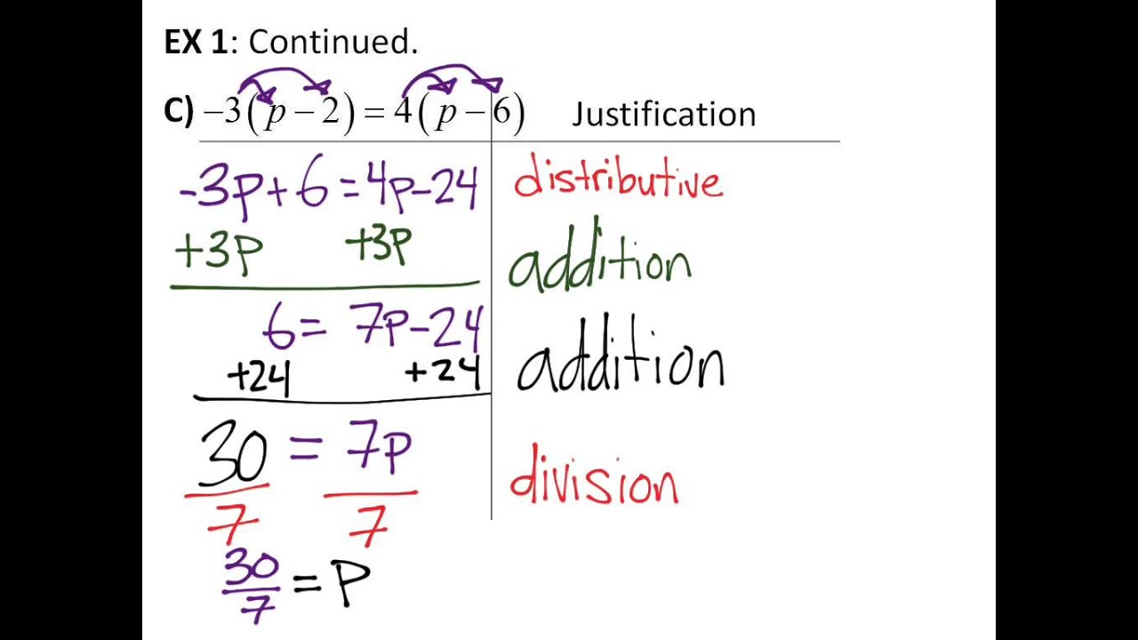 22 solving multistep equations youtube
