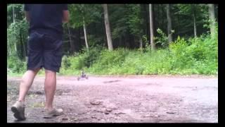 Kettcar mit Minibikemotor 1. Versuch