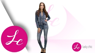 LUSTYCHIC.COM | BLUE FADED DENIM FULL LENGTH JUMPSUIT | LUSTY CHIC FC6380-1