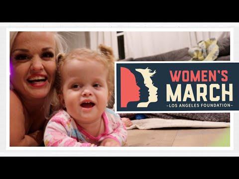Womens March LA 2018 with Mini Mama Vlog 120