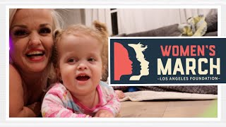 Womens March LA 2018 with Mini Mama Vlog 120