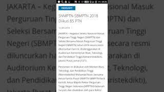 Seleksi SNMPTN-SBMPTN 2018