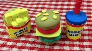 Diy Burger Shaped Eraser Making Kit