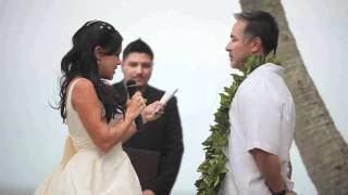 Demo video of Hawaii Wedding officiant and ceremony services.