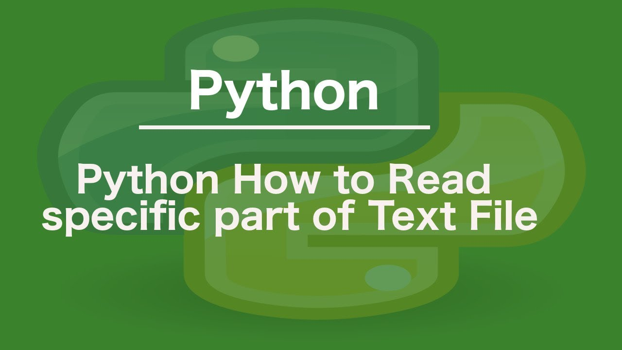Python How to read specific part of Text File