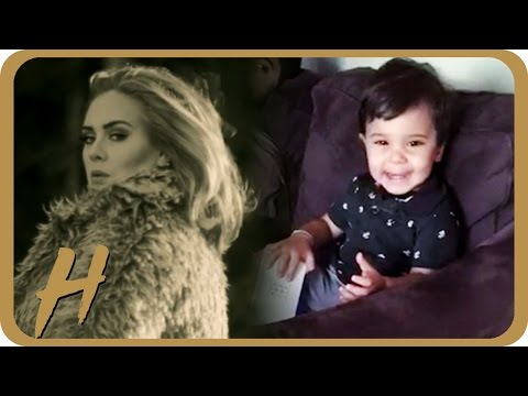 Toddler Reacts ADORABLY to Adele's New Hit 'Hello